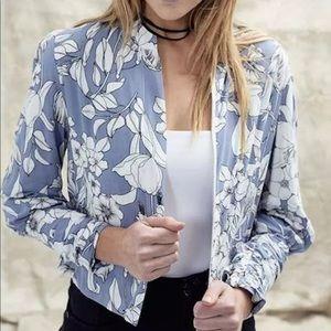 Anthropologie Floral Jacket Jaase floral bomber